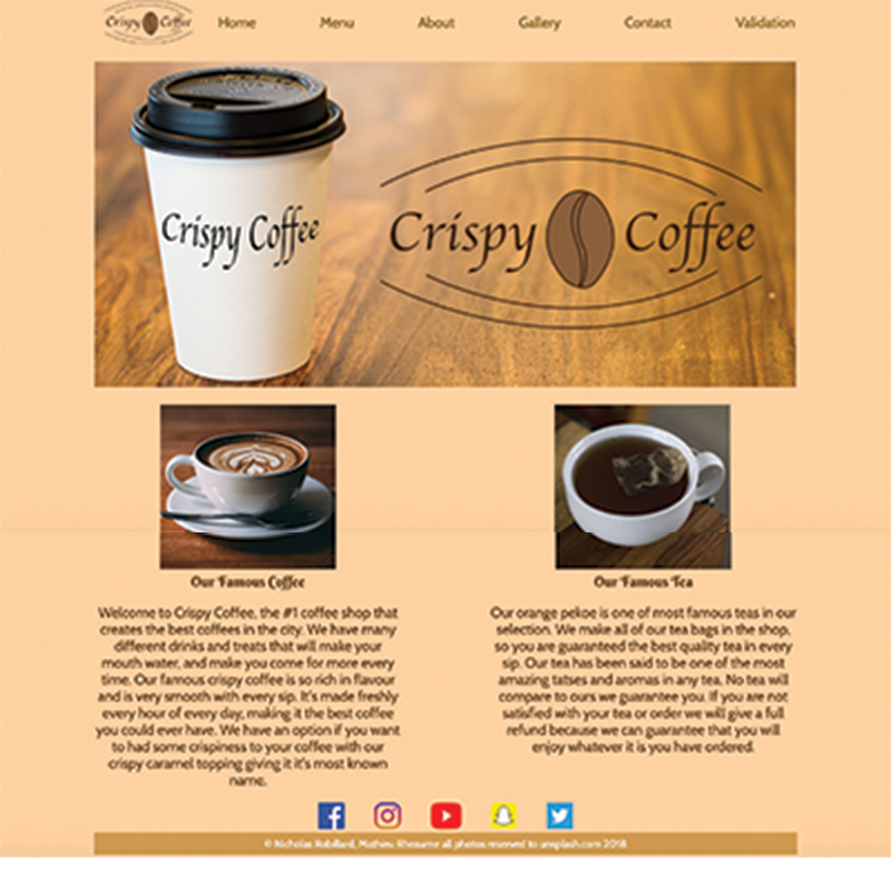 Coffe website
